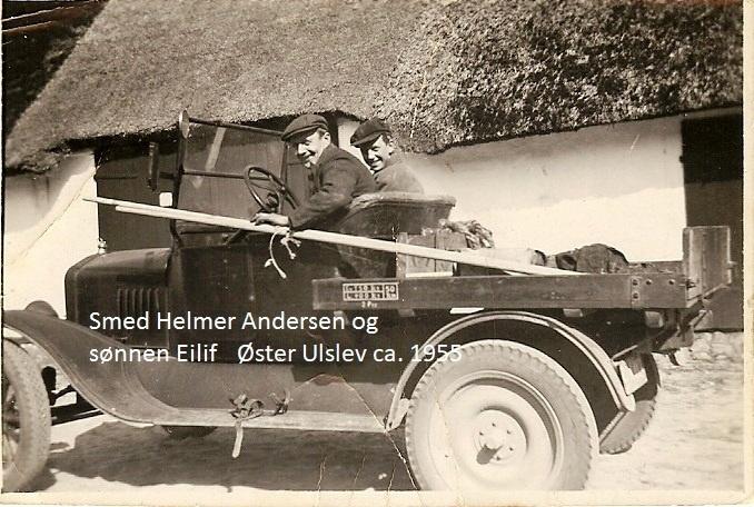 Smed Helmer Andersen og sønnen Eilif